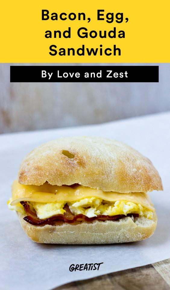 Starbucks Copycat Bacon, Egg, and Gouda Sandwich Recipe