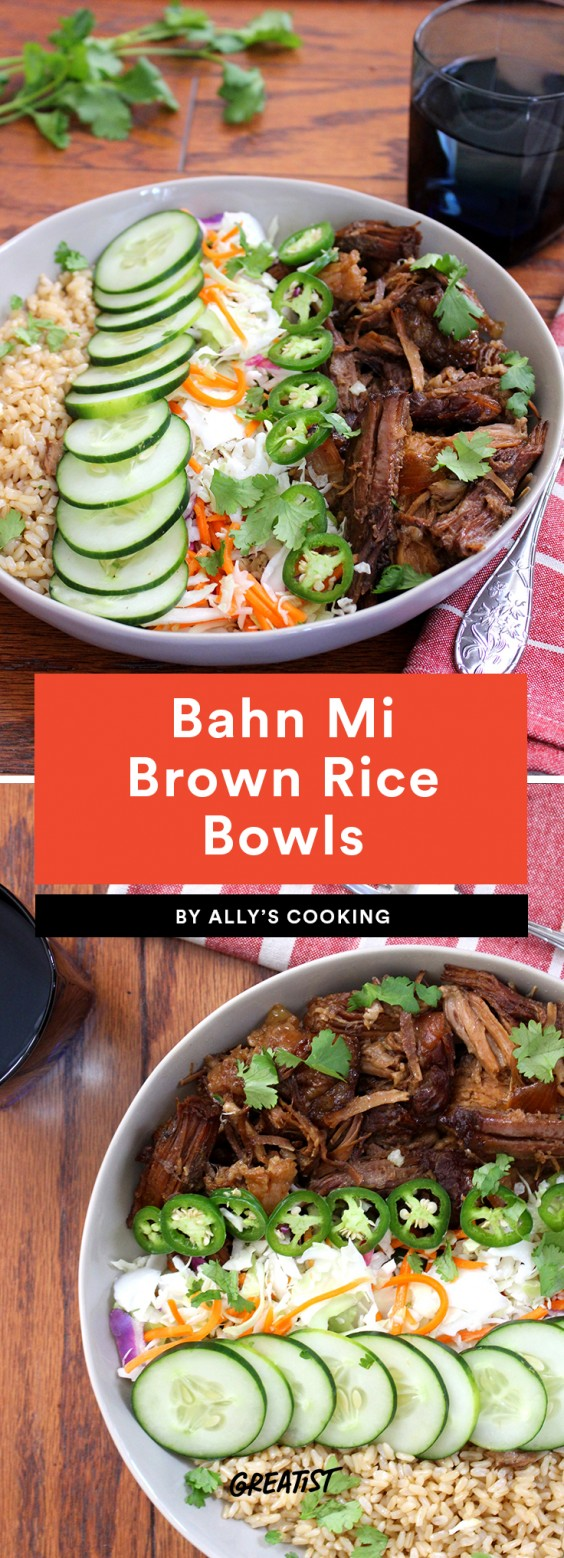 Bahn Mi Brown Rice Bowls