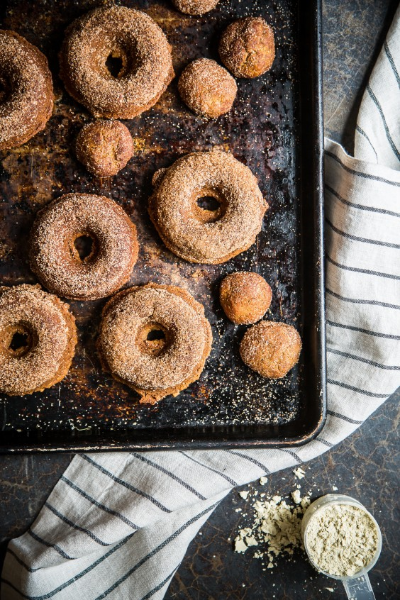Baked Apple Cider Protein Donuts