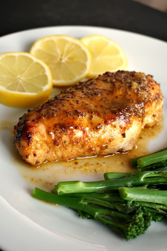 Cooking For Two: Baked Honey Mustard Chicken With Lemon