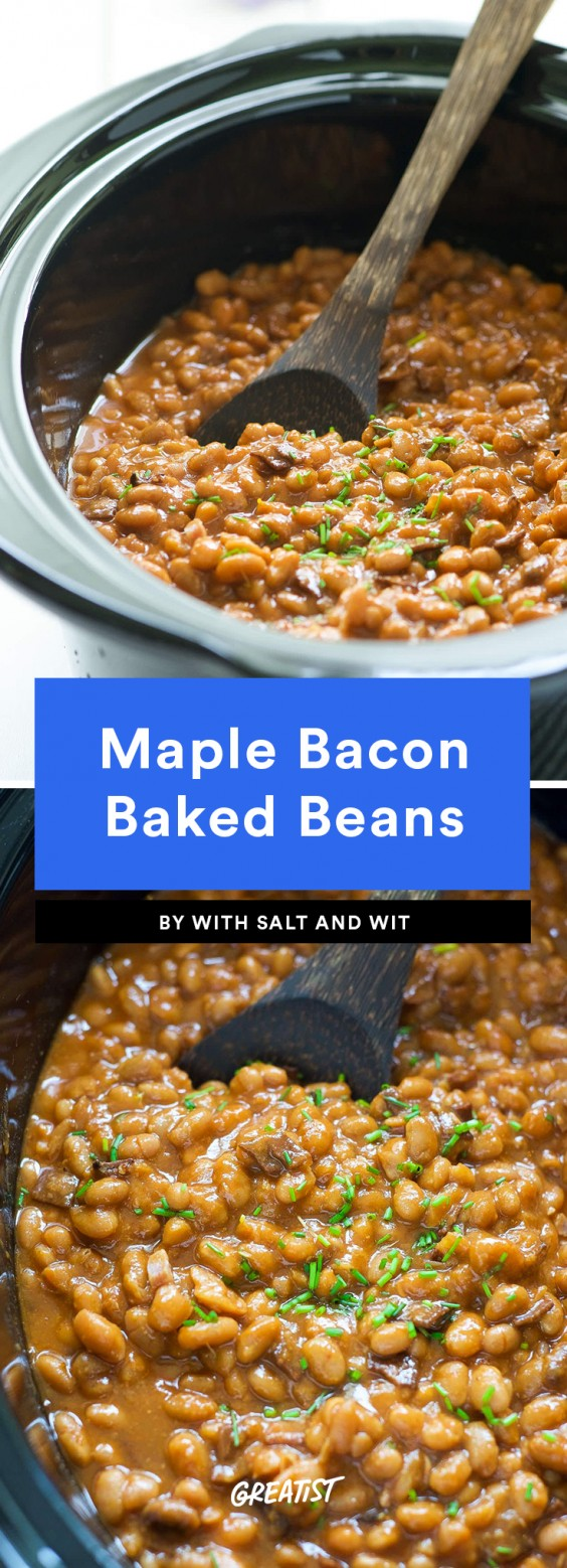 Maple Bacon Baked Beans Recipe