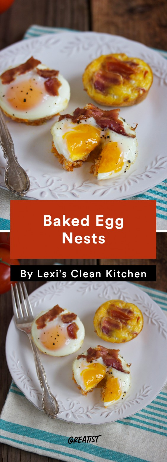 Lexi's Clean Kitchen Baked Egg Nests