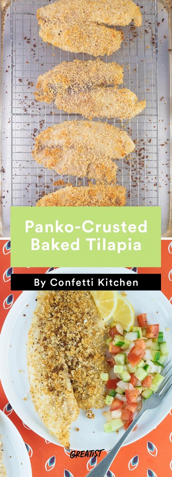 confetti kitchen: Baked Tilapia
