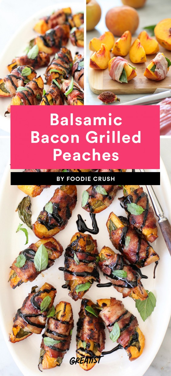Balsamic Bacon Grilled Peaches Recipe