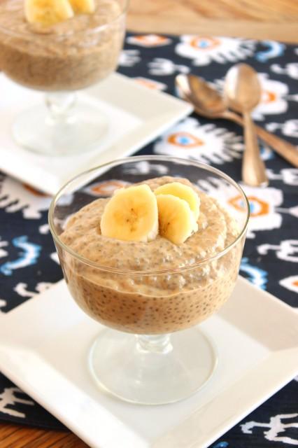 Banana Peanut Butter Chia Seed Pudding