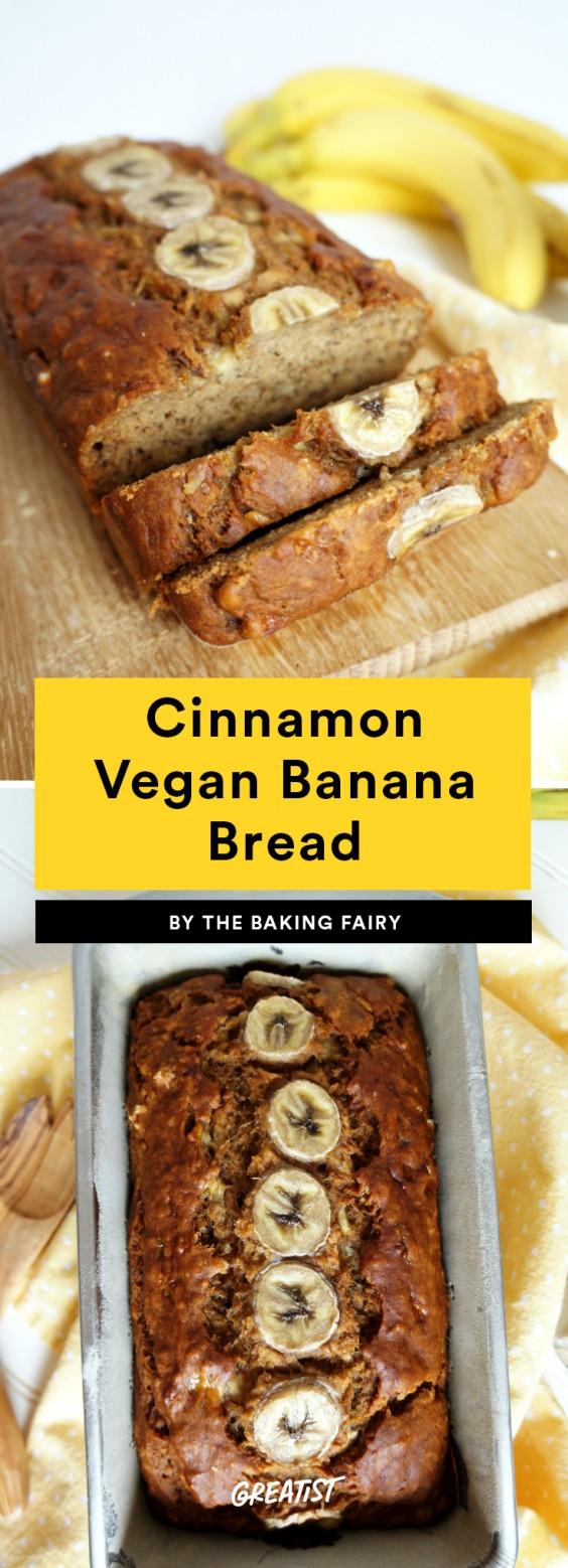 Cinnamon Vegan Banana Bread