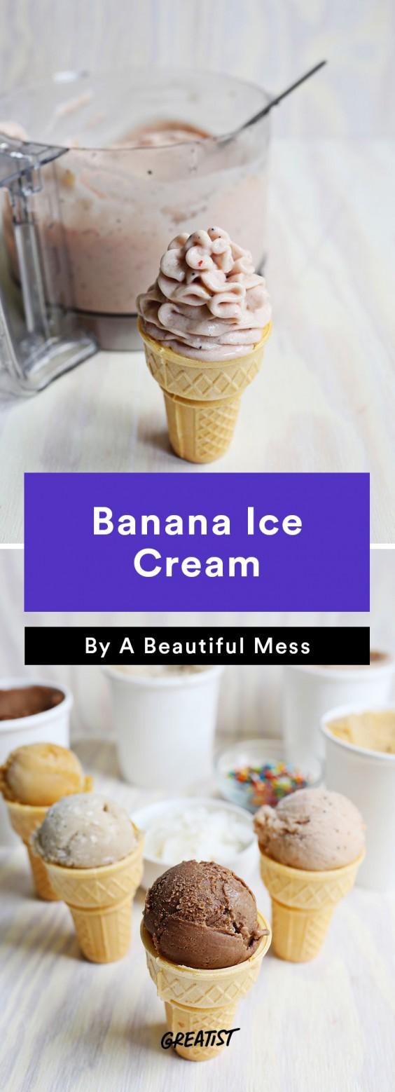 Banana Ice Cream Four Ways Recipe