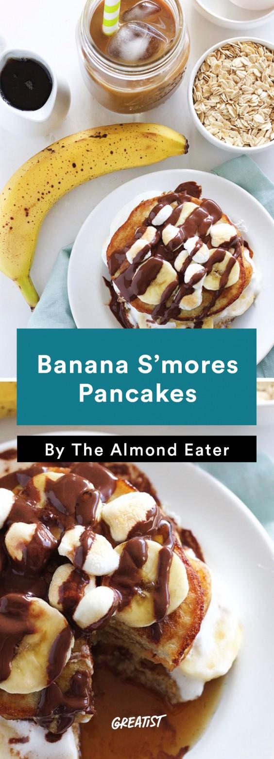 -ingredient pancakes (egg whites, bananas, oat flour) get even more ...