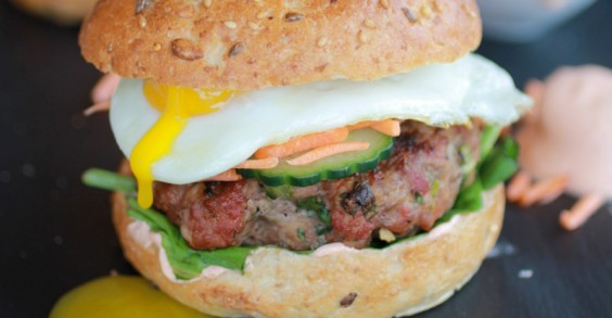 Take your burger and put an egg on it!