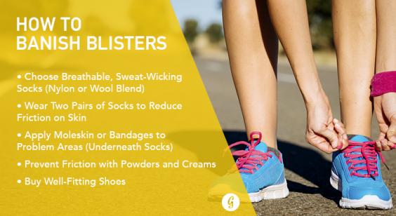 Foot blister prevention running