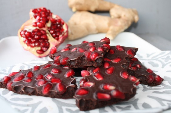 Eat Your Way to Clear, Healthy Skin: Chocolate, Pomegranate, Ginger Bark