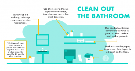 The Ultimate Guide to Being the Most Organized Person in the World: Clean Out the Bathroom