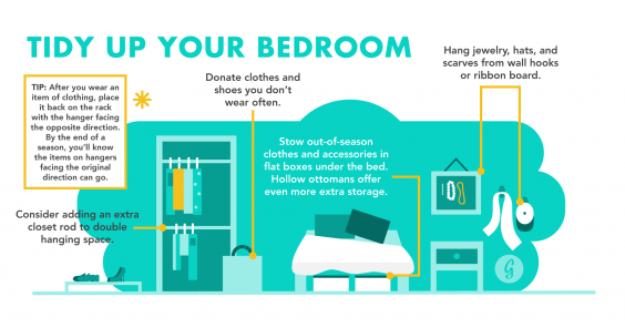The Ultimate Guide to Being the Most Organized Person in the World: Tidy Up Your Bedroom