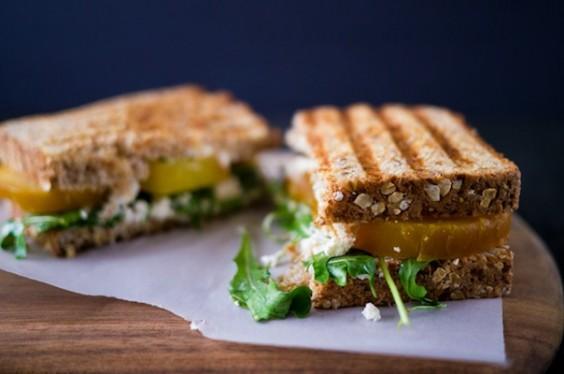 Beet Goat Cheese Sandwich