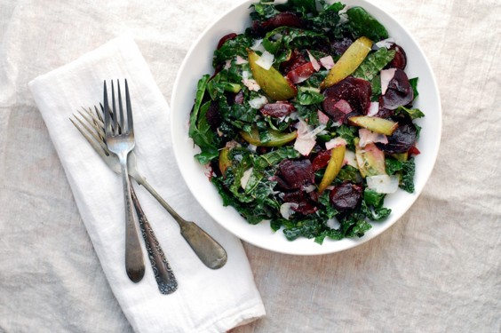 Eat Your Way to Clear, Healthy Skin: Roasted Beet, Plum, and Kale Salad