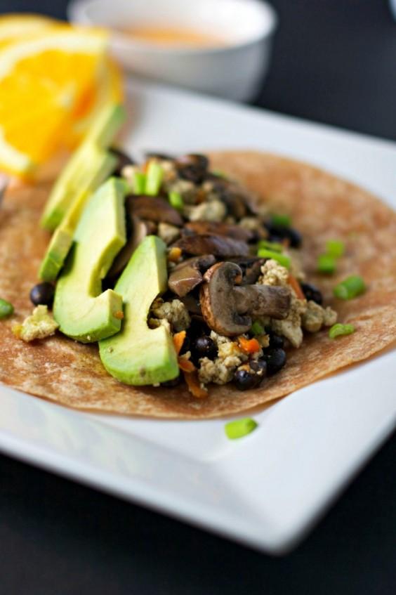 7. Mushroom and Avocado Breakfast Burrito