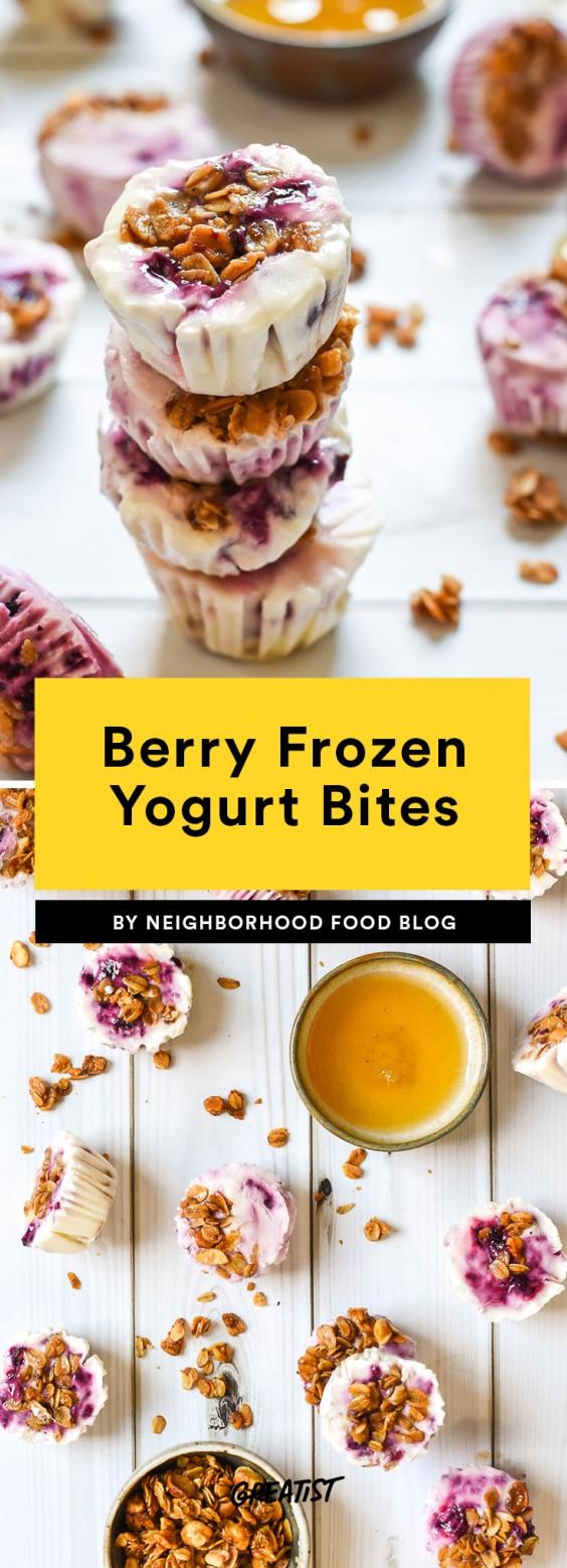 Berry Frozen Yogurt Bites Recipe
