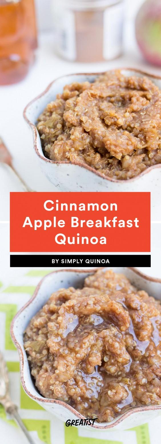 Cinnamon Apple Breakfast Quinoa Recipe