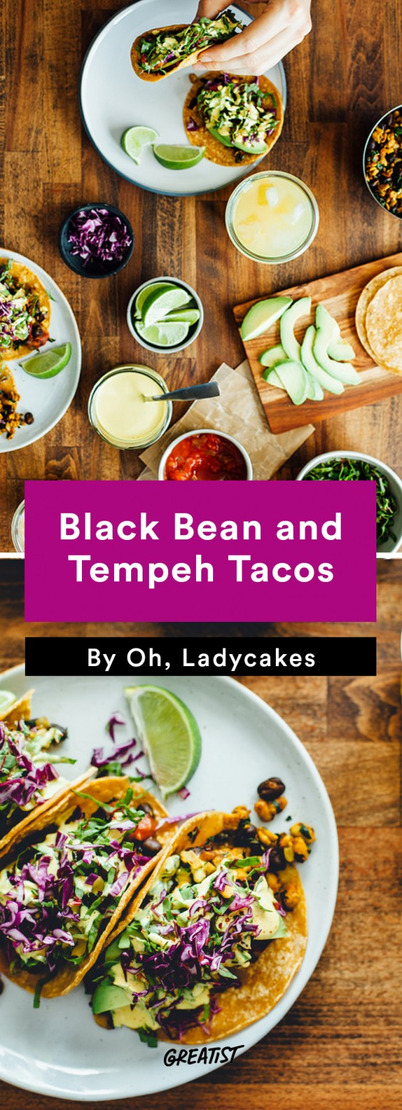 oh ladycakes: Black Bean and Tempeh Tacos