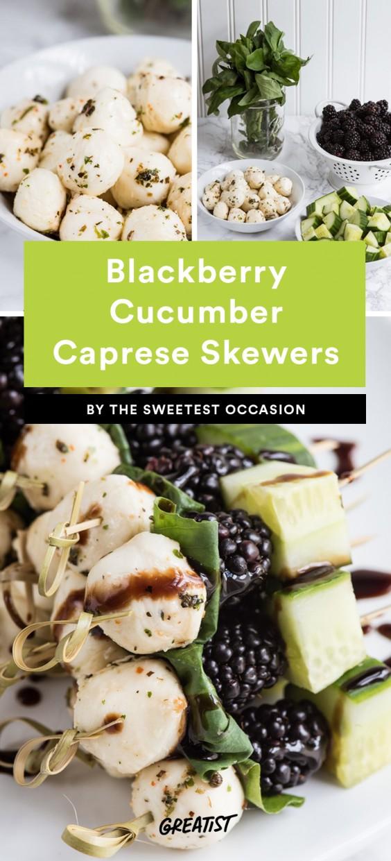 Blackberry Cucumber Caprese Skewers Recipe