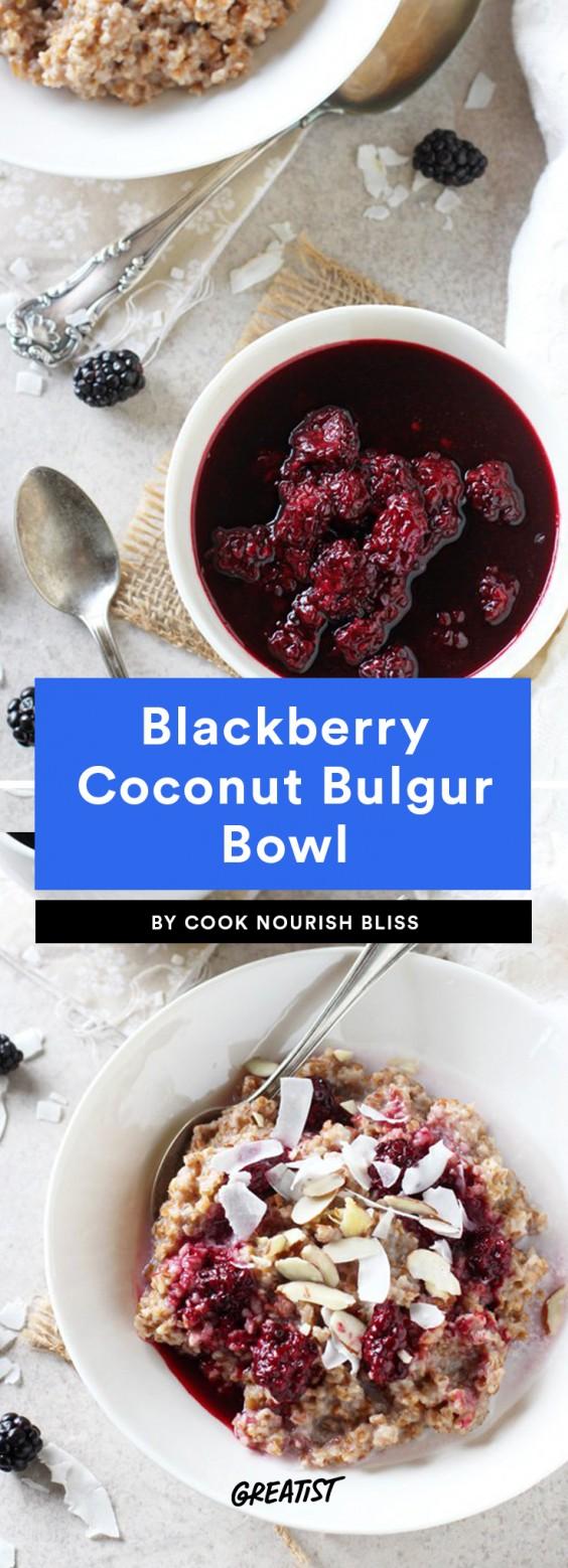 Blackberry Coconut Bulgur Bowl