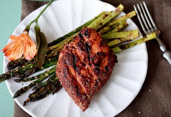 Grilled Blackened Tuna Steaks