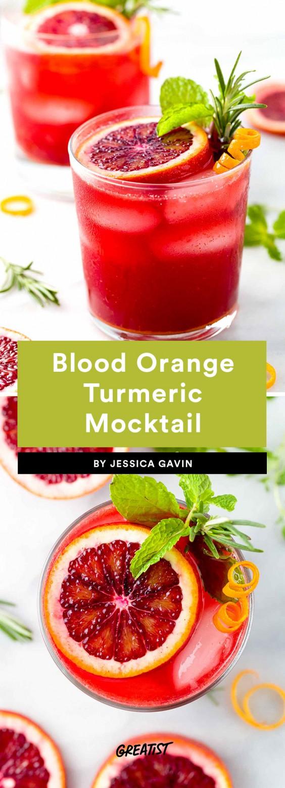 Blood Orange Turmeric Mocktail