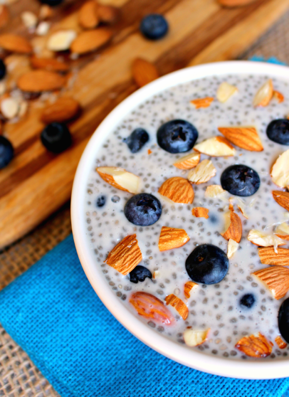Blueberry Almond Chia Seed pudding