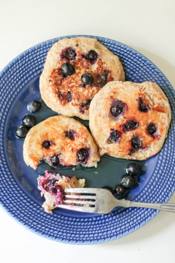 4. Oatmeal Blueberry Yogurt Pancakes