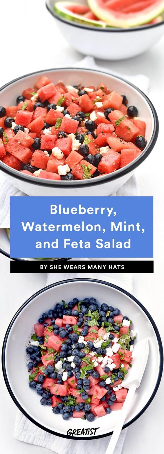 Blueberry, Watermelon, Mint, and Feta Salad