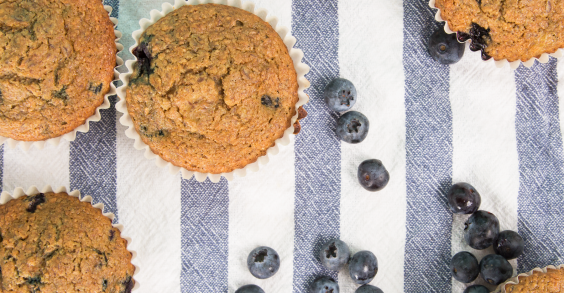 Healthy Breakfast for Busy Mornings: Blueberry Muffins