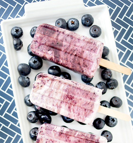 Low-Carb Breakfasts: Blueberry Protein Pops