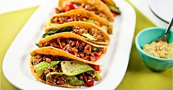 Bok Choy Tempeh Tacos