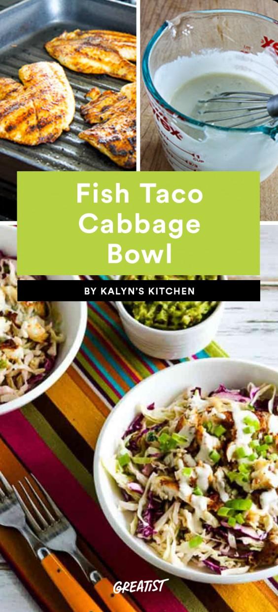 Fish Taco Cabbage Bowl