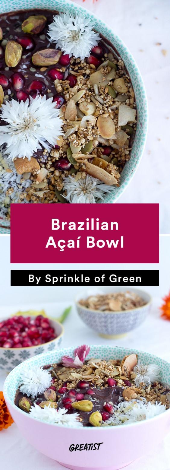 Brazilian food: Acai Bowl