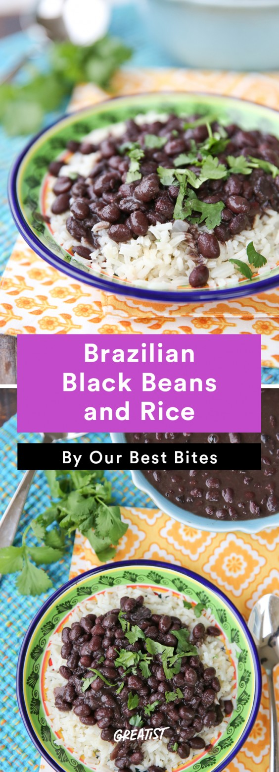 Brazilian food: Black Beans and Rice