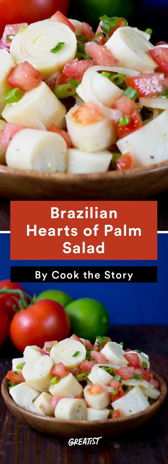 Brazilian food: Hearts of Palm Salad