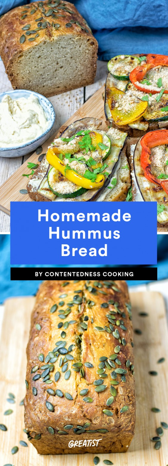 Homemade Hummus Bread