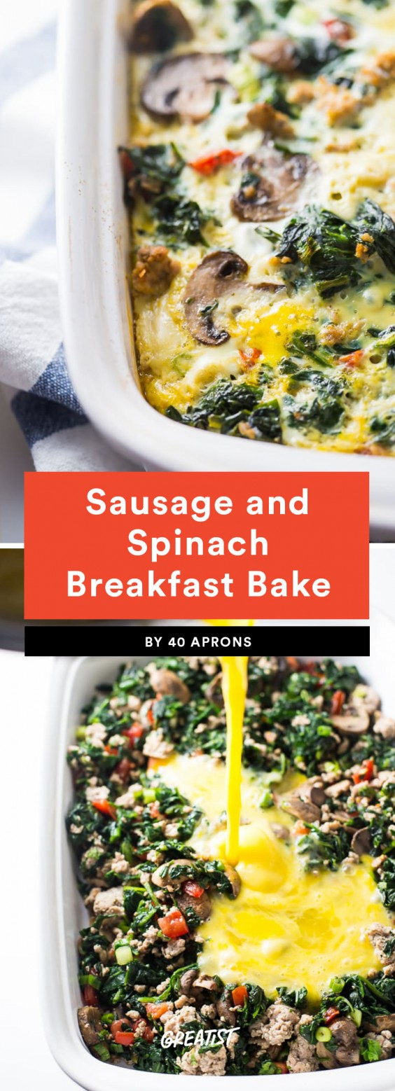 Sausage and Spinach Breakfast Bake