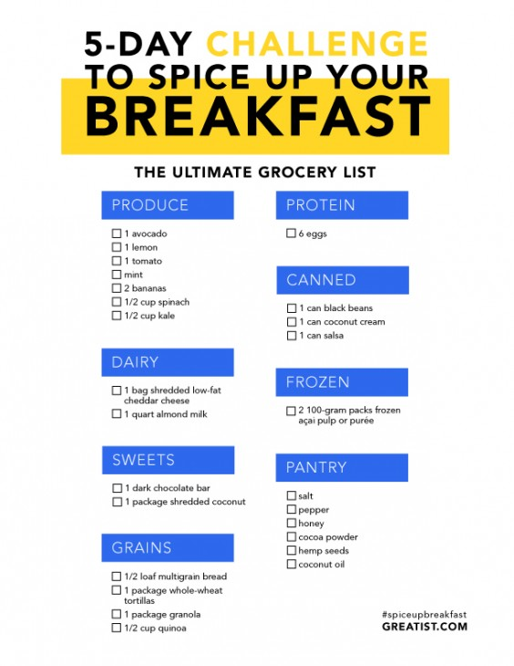 Spice Up Your Breakfast With This 5-Day Challenge