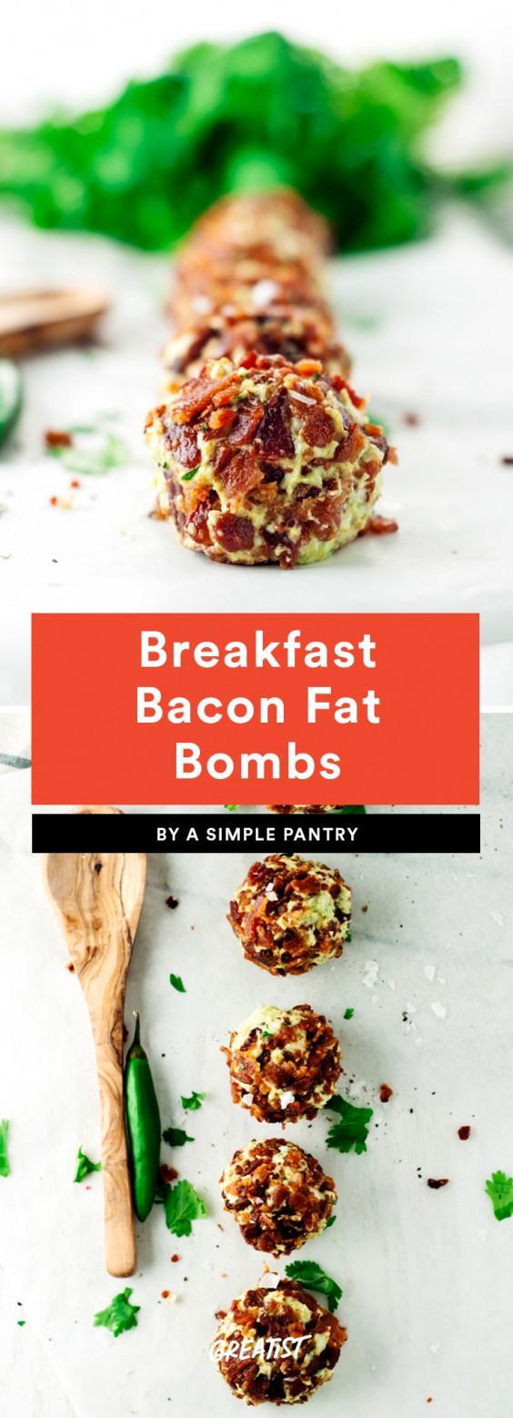 Breakfast Bacon Fat Bombs