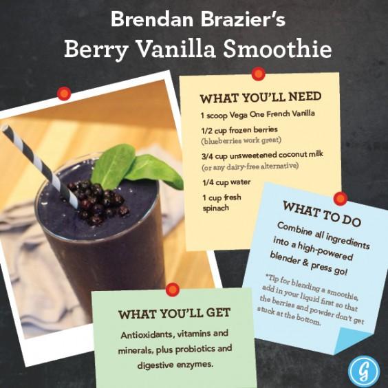 Brendan Brazier's Berry Vanilla Smoothie
