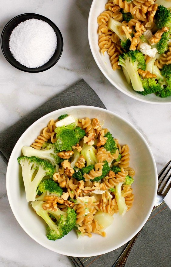 Cooking For Two: Broccoli Brie and Walnut Rotini Recipe