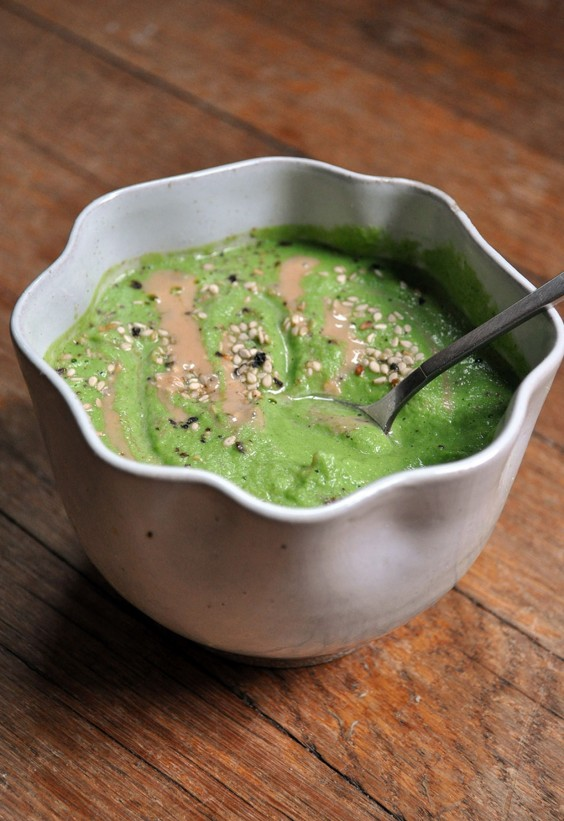 Tahini Uses: Broccoli Tahini Bisque