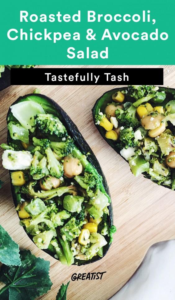 Broccoli, Chickpea and Avocado Salad