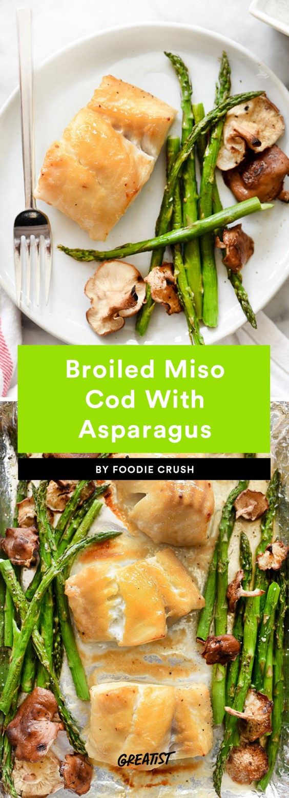 Broiled Miso Cod With Asparagus