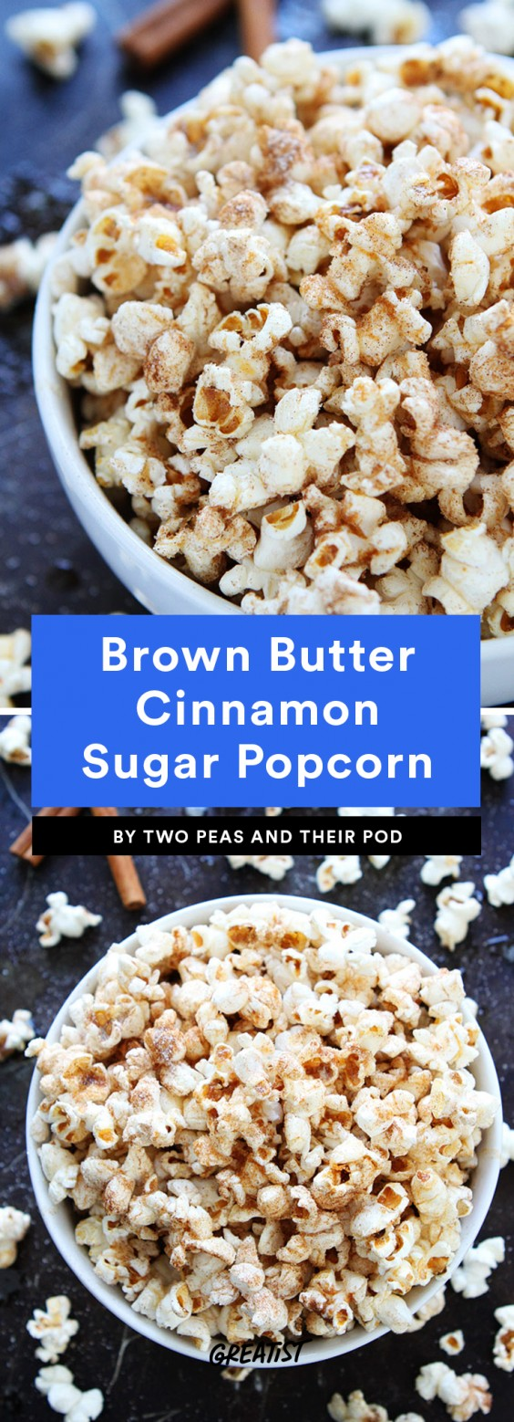 Brown Butter Cinnamon Sugar Popcorn