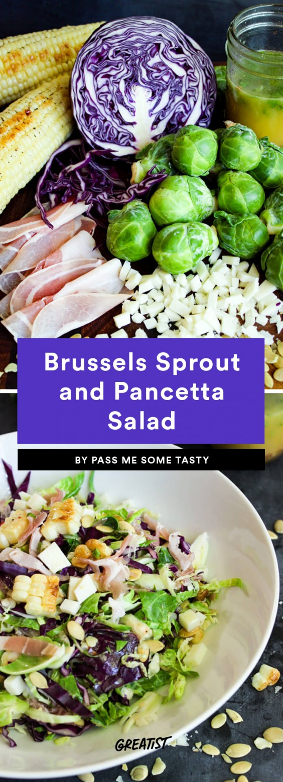 Brussels Sprout and Pancetta Salad