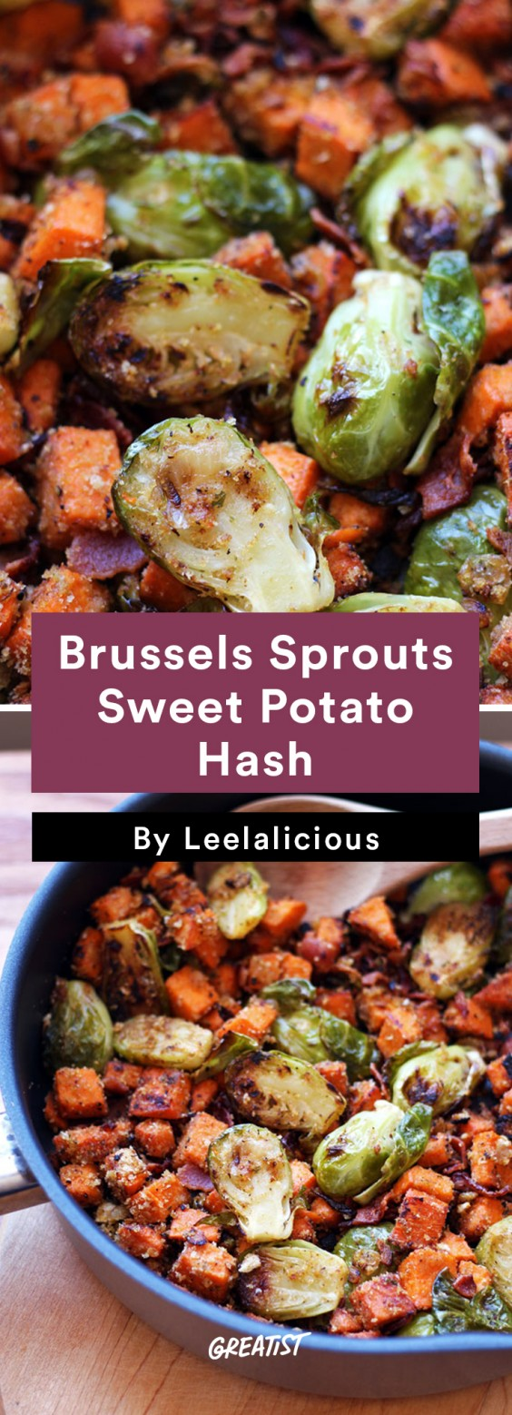 Sweet Potato Hash: Brussels Sprouts