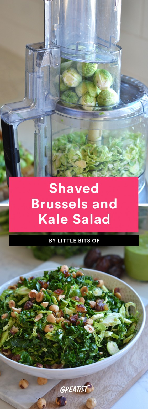 Shaved Brussels and Kale Salad